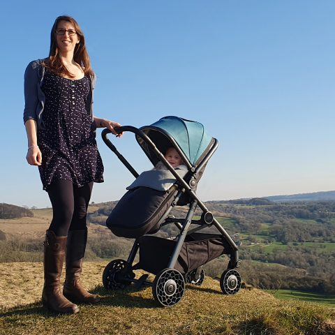 Ark Pushchair Teal snuggle