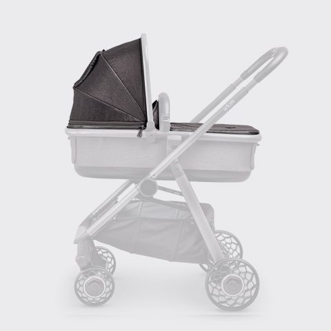 Ark-Spare-Parts-Carrycot-Cover&Hood-Charcoal-Grey