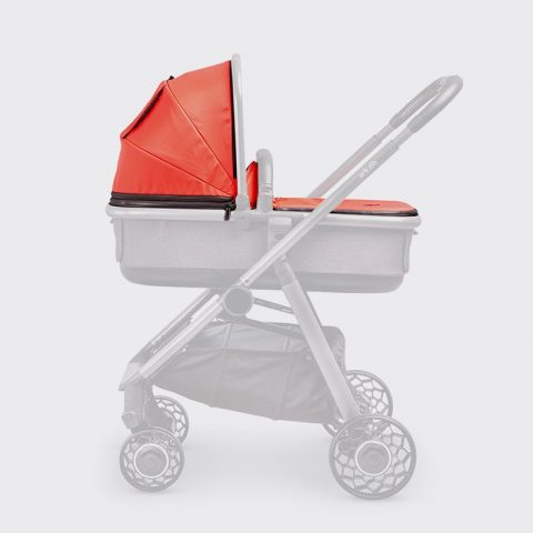 Ark-Spare-Parts-Carrycot-Cover&Hood-Coral-Grey