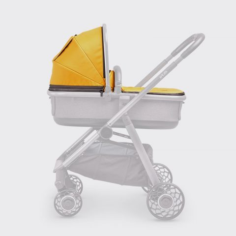 Ark-Spare-Parts-Carrycot-Cover&Hood-Mustard-Grey