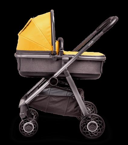 ARK-pushchair-mustard-carrycot